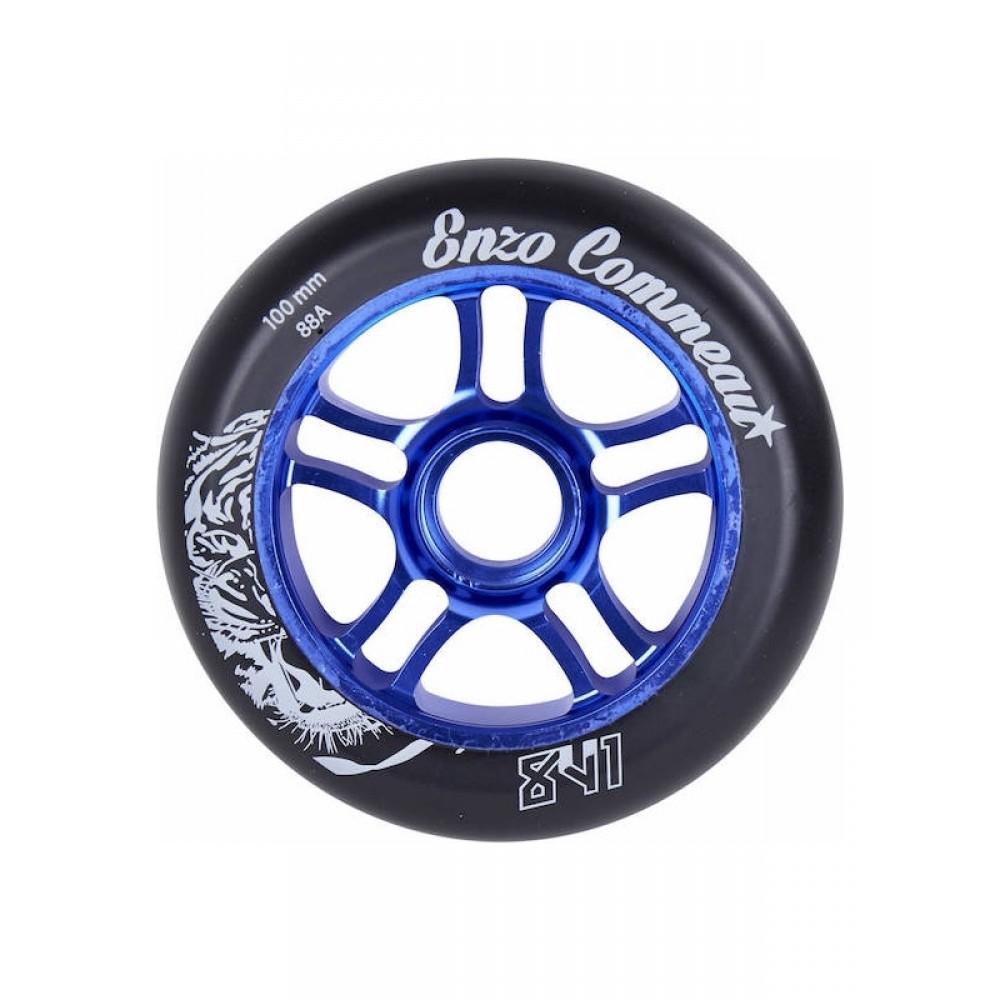 841 Enzo 100 mm hjul blå