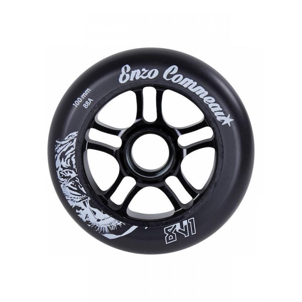 841 Enzo 100 mm hjul sort