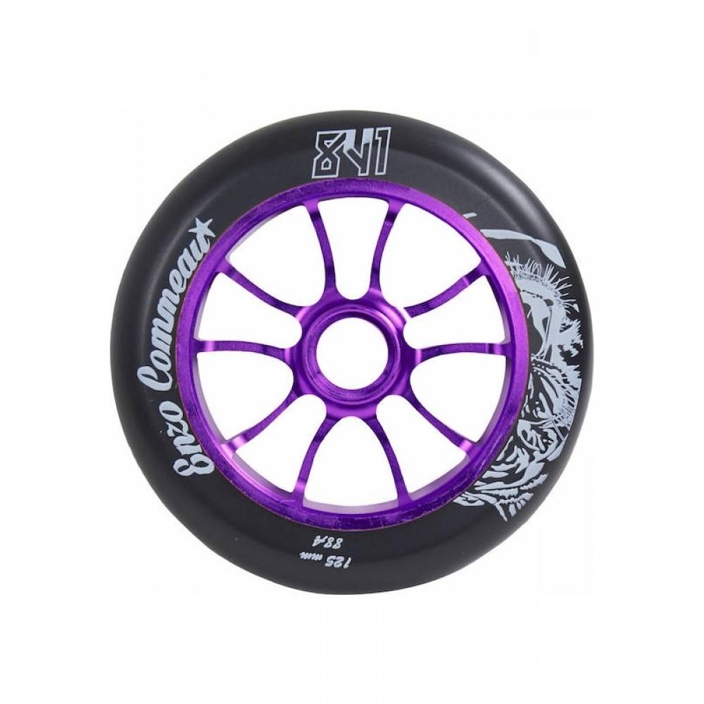 841 Enzo 125 mm hjul lilla