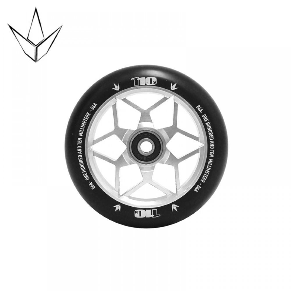 Blunt diamond hjul 110 mm sølv