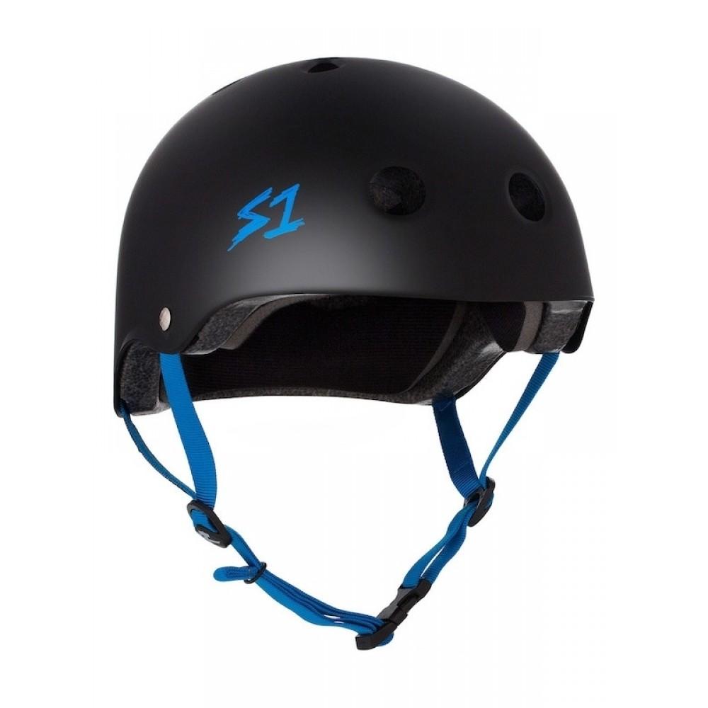 S1 Lifer skate helmet blue straps