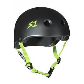 S1 Lifer skate helmet green straps
